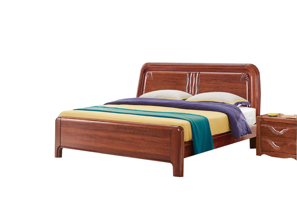 有1.5米 胡桃木双人床