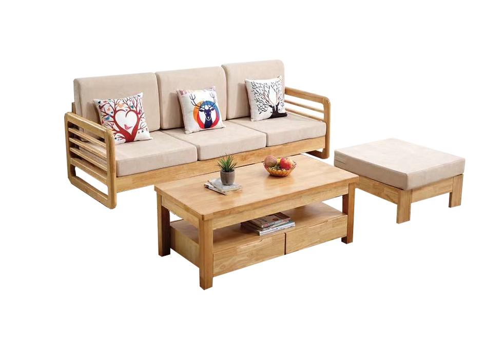 2.0米橡木北欧小户型转角沙发
