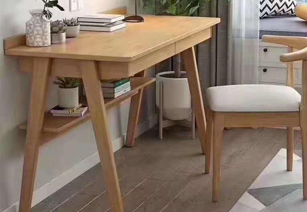 八字橡木电脑书桌