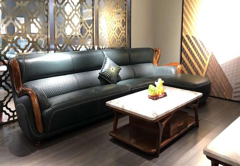 3.7米真皮高档皮沙发