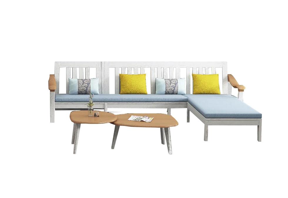 2.95-3.15米北欧白色橡木沙发