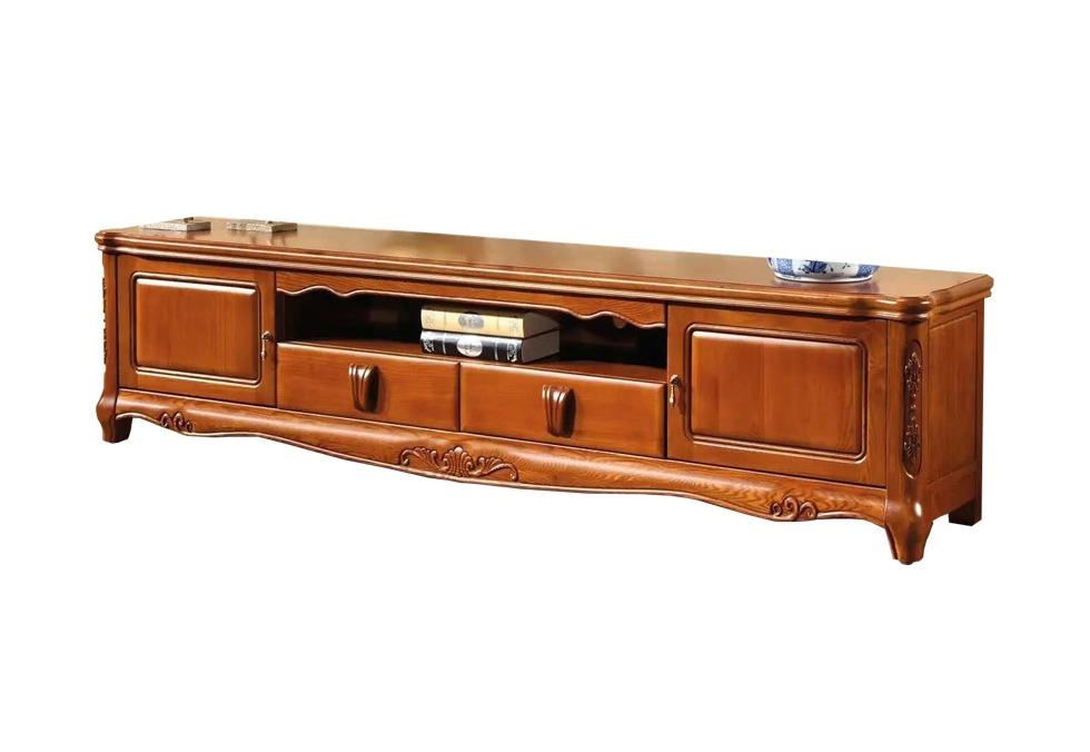 2米中式橡木电视柜