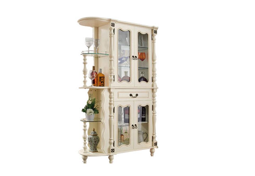美式白色实木间厅柜