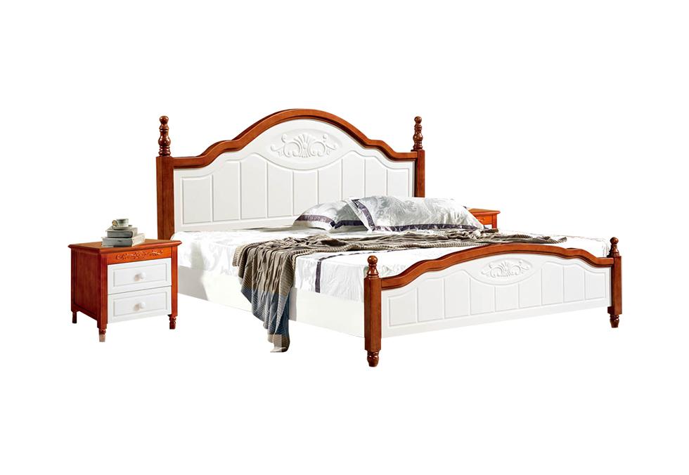 有1.35米1.5米1.8米实木美式床