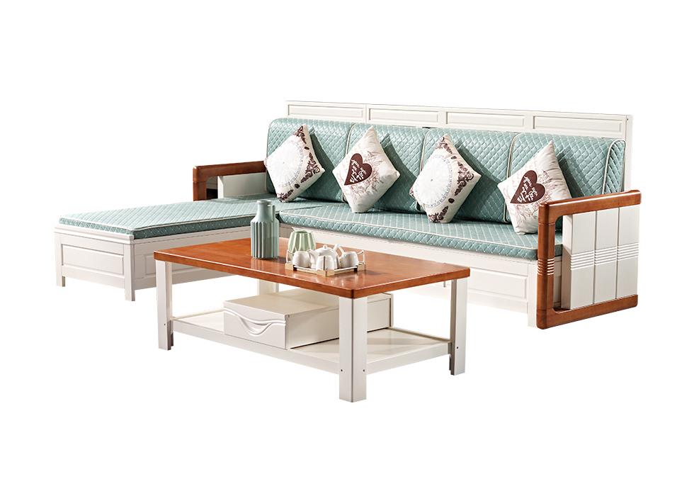 【特价】2.8米实木沙发 实木箱式沙发