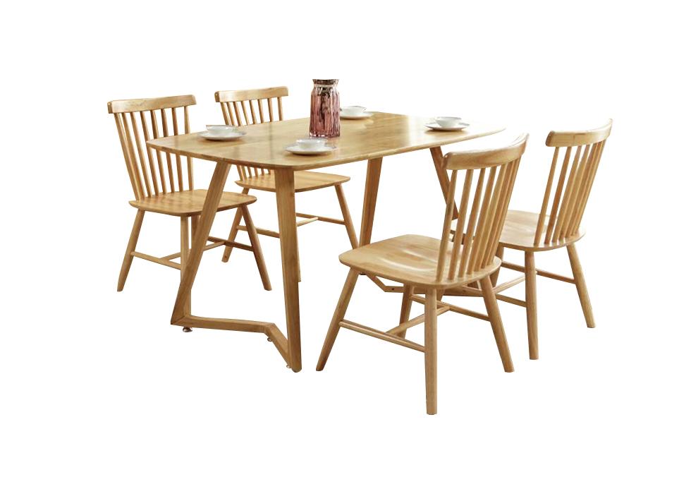 1.3米北欧全橡木餐桌