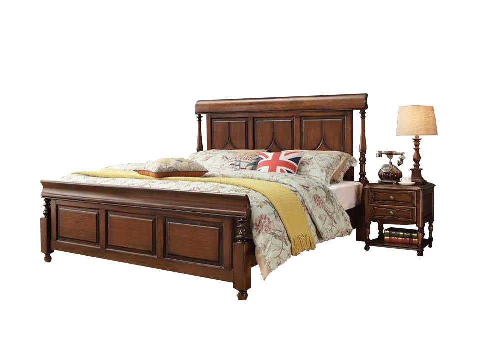 1.8米白腊木简美床