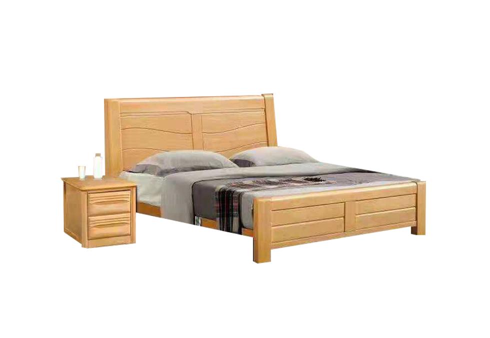 全榉木双人床 1.8米实木床