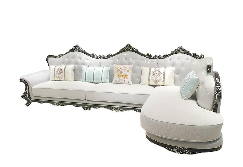 欧式皮艺转角沙发