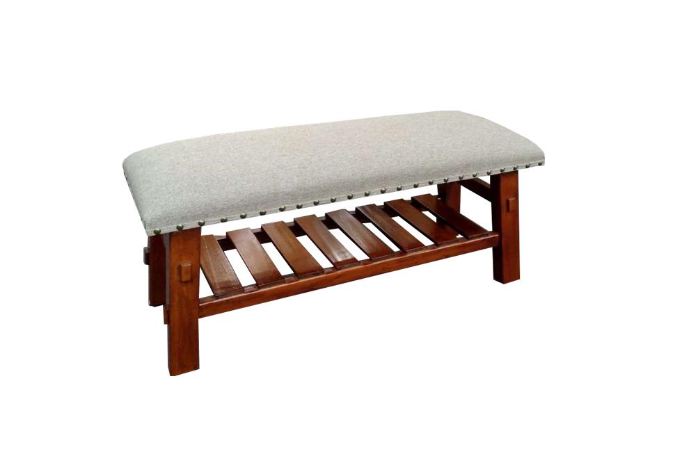 实木软座换鞋凳