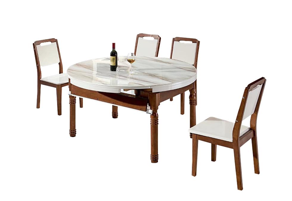 1.35米大理石跳台餐桌