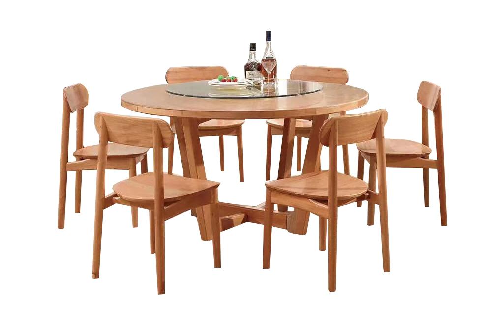金丝木圆餐桌