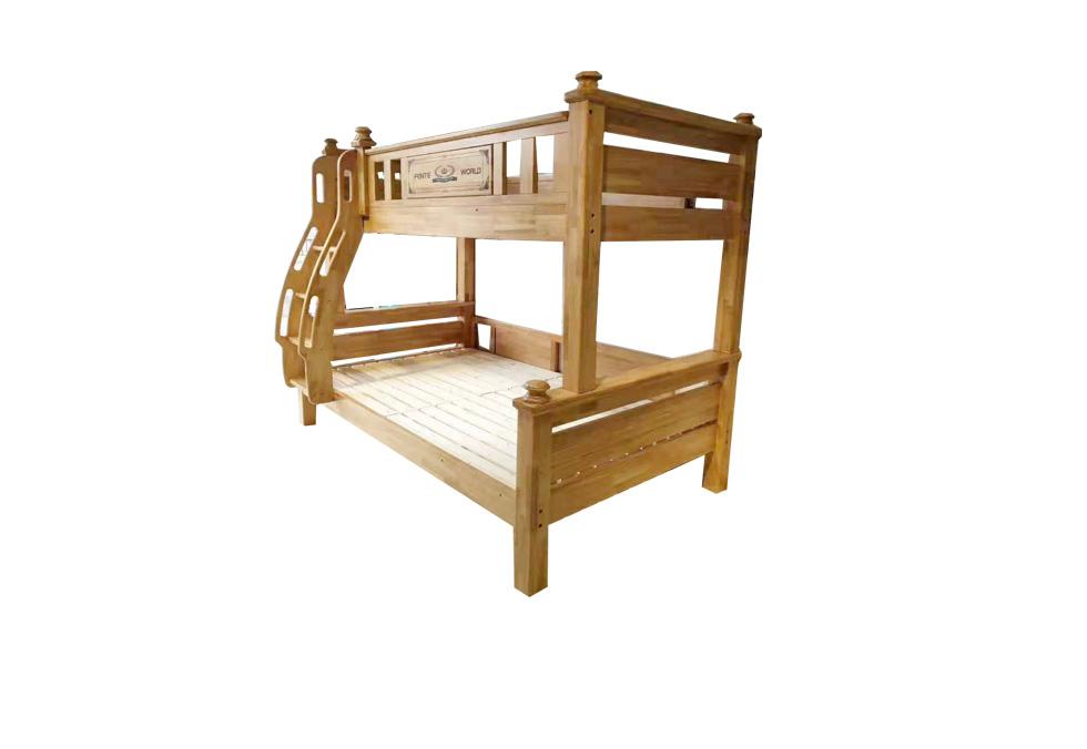 美式橡木子母床
