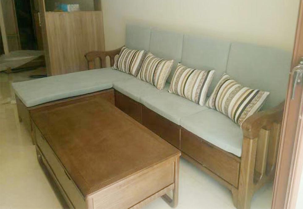 北欧白腊木沙发